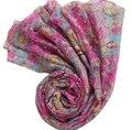 100% Natural cachecol tático Impresso Rosa floral viscose cachecóis foulard avec bijou elegante flores tampas hijab