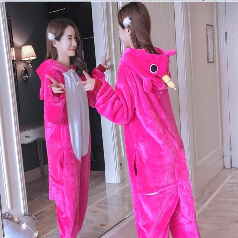 0c6c6900fb41 Кигуруми Onesie Косплэй Оптовая продажа животных Единорог взрослых унисекс  Для женщин пижамы с капюшоном пижамы комбинезон