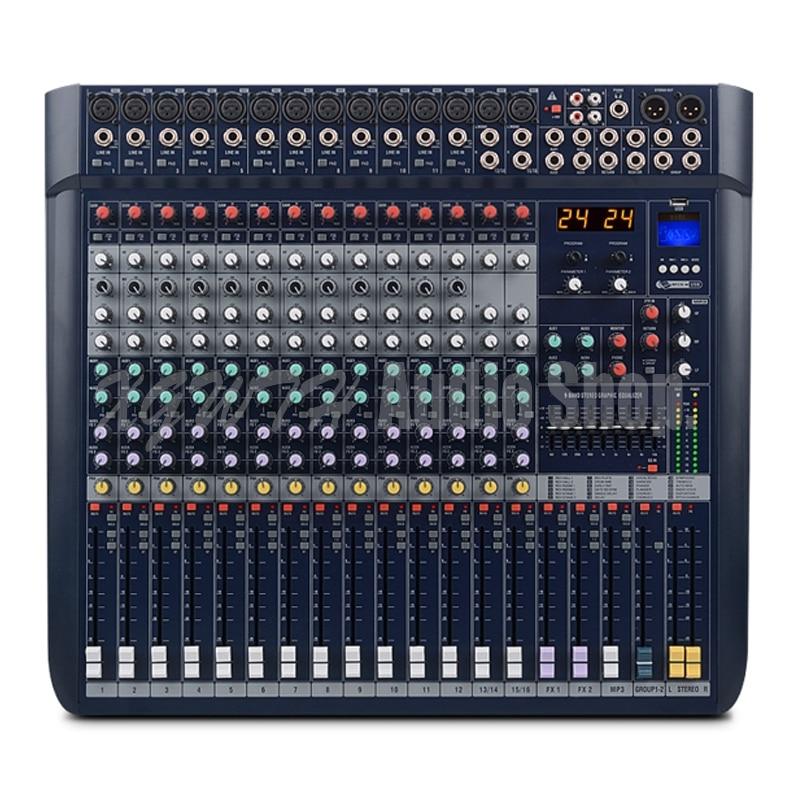Rational Dj Mixer 16-kanal Mit Bluetooth Usb Reverb Dual Digitale Effekte Ausgewogene Hochzeit Konferenz Leistung Schrecklicher Wert Dj-equipment