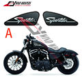15 styles Custom Printing Graphics Fuel Tank Decals Stickers For Harley Sportster XL 883 1200 XR1200 Iron Forty Eight Seventy