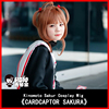 HSIU NEW High Quality Sakura Kinomoto Cosplay Wig Card Captors Sakura Anime Costume Play Wigs Halloween