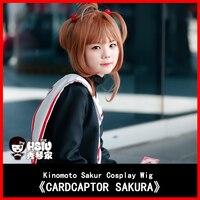 HSIU NEW High Quality Sakura Kinomoto Cosplay Wig Card Captors Sakura Anime Costume Play Wigs Halloween