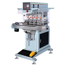 automatic 4 color pad printing machine with ink cup for plastic,wood,pens,SD card