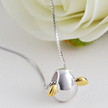 Angel Egg Silver Gold Pendant Necklace Jewelry For Women