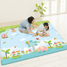 цены 1cm Baby Play Mat Baby Room Crawling Pad Folding Children Mat Double Sided Durable Waterproof Foldable with Carry Bag
