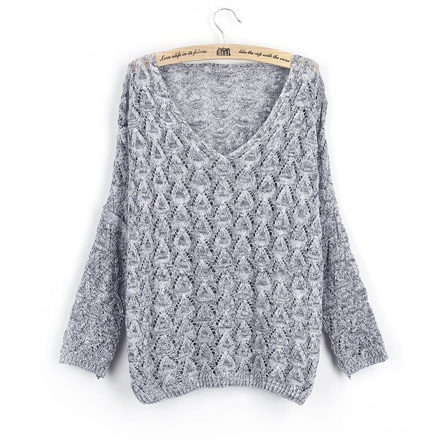 Trendy Knitted Thin Sweater Women Summer Jersey Pullover Female