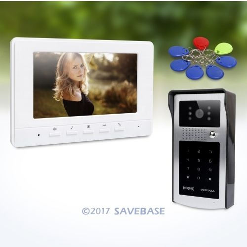HOMSECUR 7inch Video Security Door Phone with Mute Mode for Home Security for House/ Flat