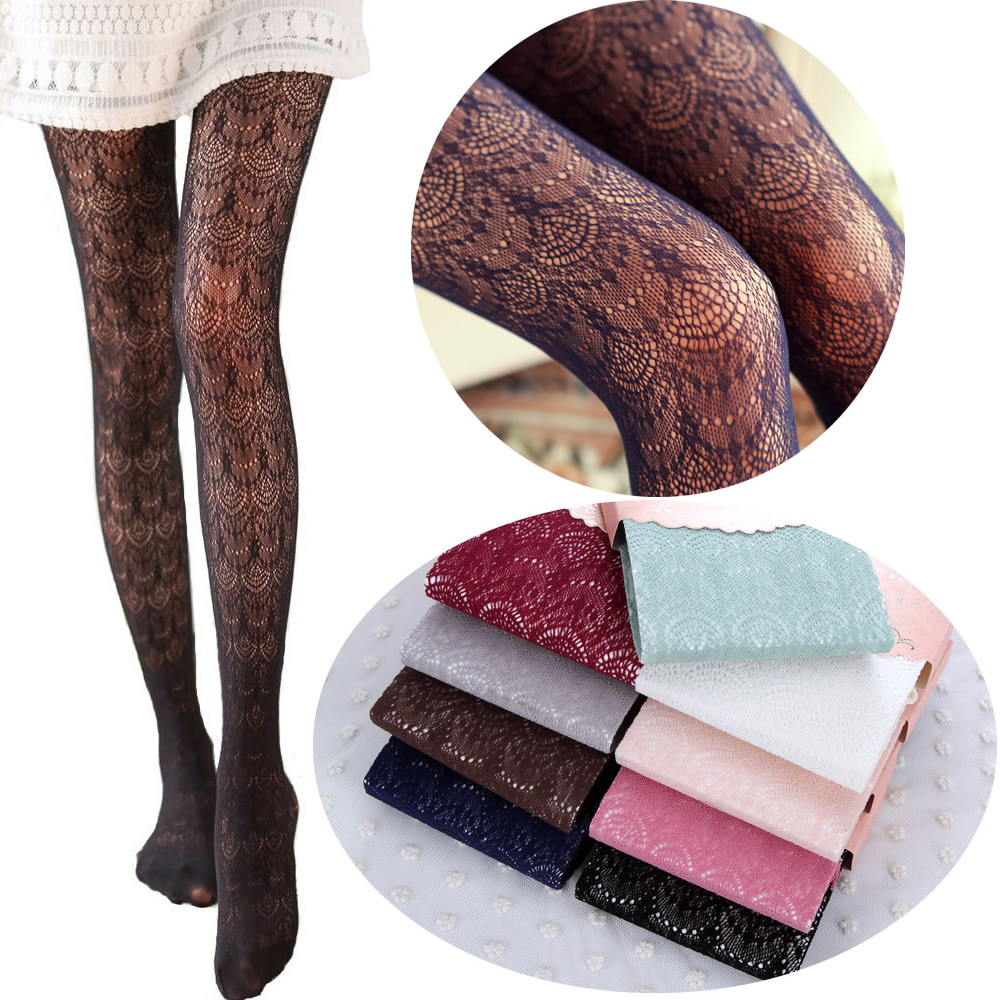 Quente! Mulheres Sexy Meias Verão Outono Oco Calças Justas Meia-calça de Renda Japonesa Meias Arrastão Alta Elástica Meia-calça Do Vintage