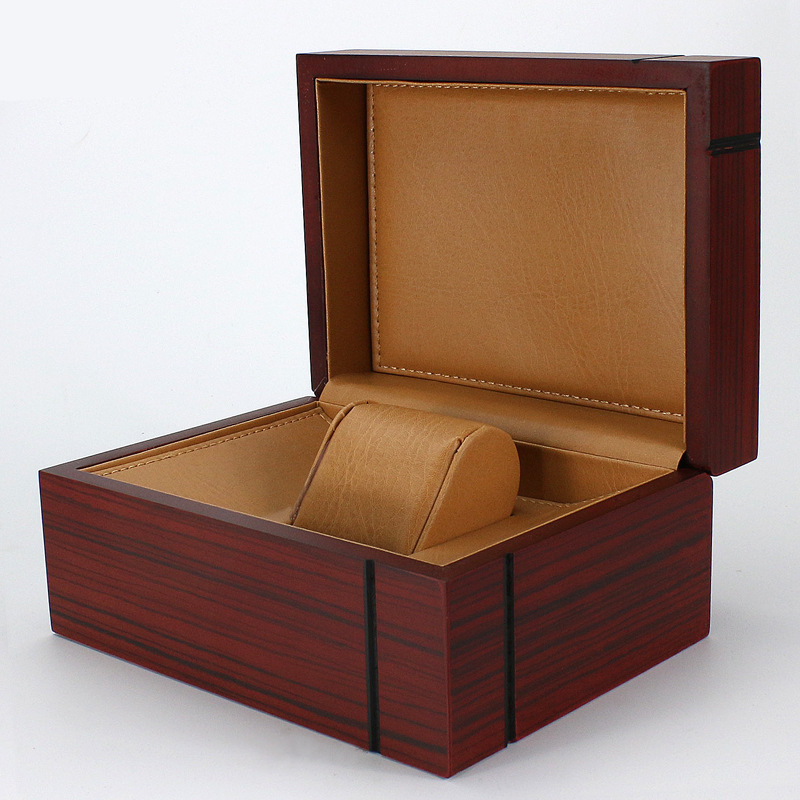 Elegant Durable Dark Red Wooden Rectangle Brand Watch Display Box Watches Case Jewelry Storage Holder Organizer Free Shipping leewince custom jewelry makeup organizer e0 e1 mdf wooden storage box beautiful design box jewelry for display support oem