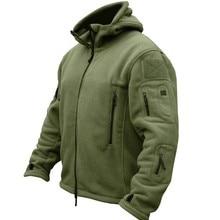 Военная Мужская Флисовая тактическая флисовая куртка для улицы Polartec термальная спортивная куртка с капюшоном Мужское пальто одежда