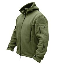 Military Men Fleece Tactical Softshell Jacket Outdoor Polartec Thermal Sport Polar Hooded Coat Men Outerwear Clothes(China)