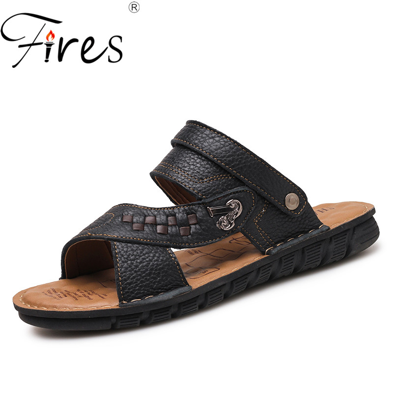 Fires Men Sandals Comfortable Lightweight Casual Shoes Slip-on Breathable Half-Slippers Male Leisure Cool Zapatos de Hombres