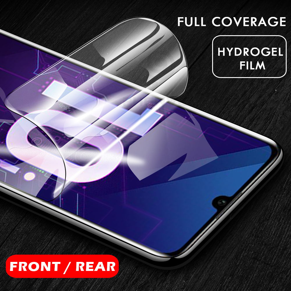 0.1mm Protective Film for Huawei honor View 10 10i 20 Gel Screen protector for Honor Play 8 Pro 9 10 lite 3D back Hydrogel Film image