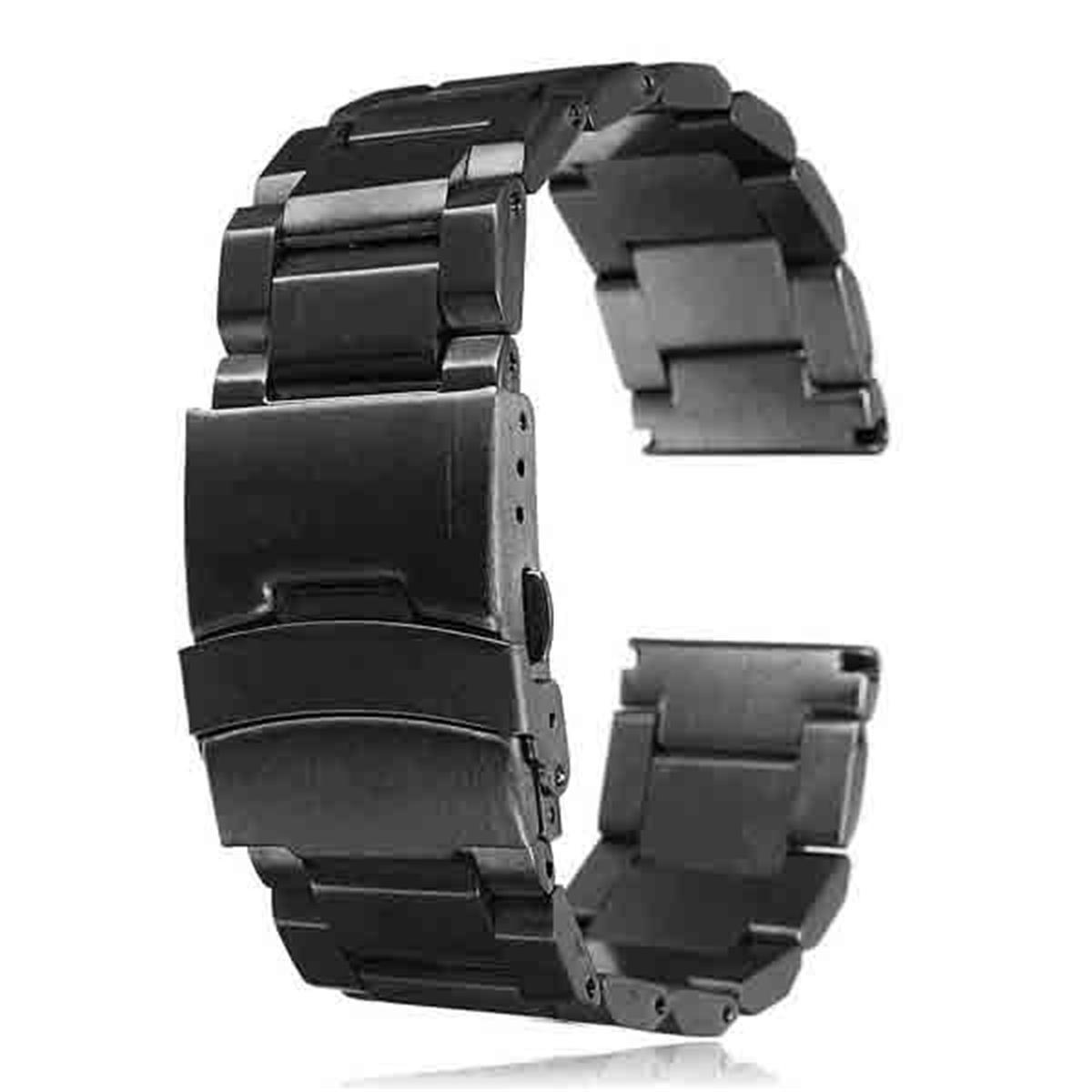 WatchBand New Arrival 22mm Stainless Steel Man Fashion Watch Strap Double Lock Flip Bracelet Straight End Wholesale цена 2017