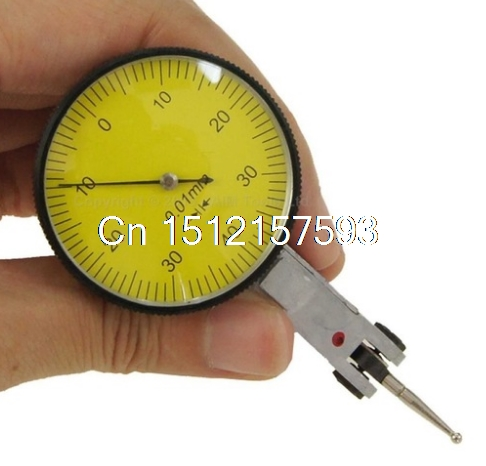 38mm Dial Test Indicator Precision Metric with Dovetail rails, 0-0.8mm 40112302 dial test indicator precision metric with dovetail rails
