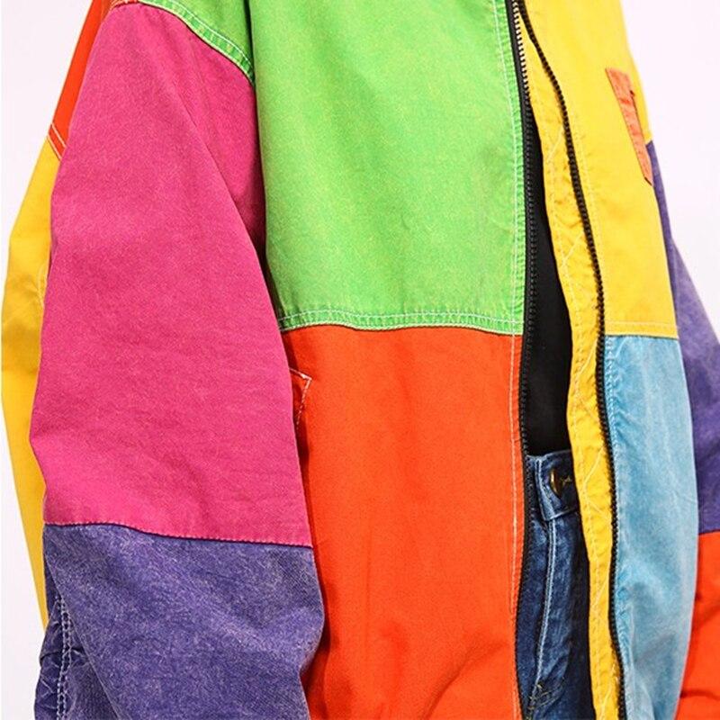 Rétro Rue Chaud Femelle Veste Couture Production Femmes Manteau Surdimensionné Lâche Ly16 Haute Ressort Thick Parkas Qualité Lourde Color Automne picture Nouveau Coloré nFCzBwFq