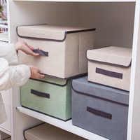 Складная Нетканая квадратная коробка для хранения одежды нижнее белье бюстгальтер носки разделитель Чехол настольный органайзер для шкаф...