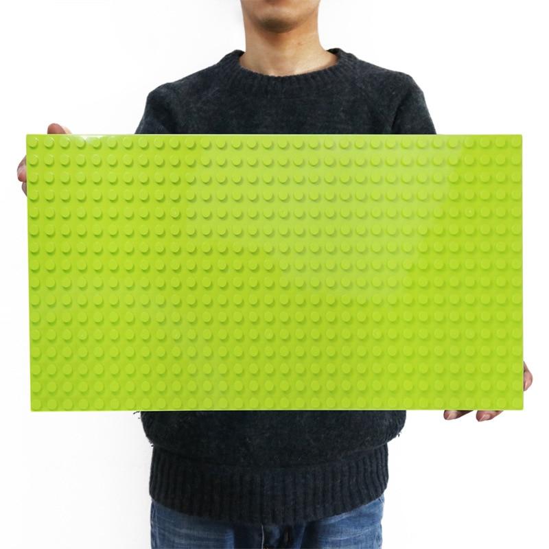 512 Duploe gran ladrillos placa Base 16*32 puntos 51*25,5 cm placa Base bloques de construcción de juguetes para los niños compatible con LegoINGLYs los Duplos