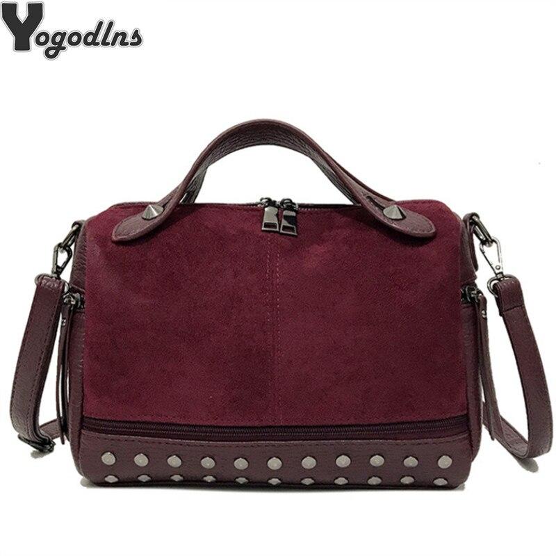 New Arrival Nubuck PU Leather Handbags for Women Casual Fema