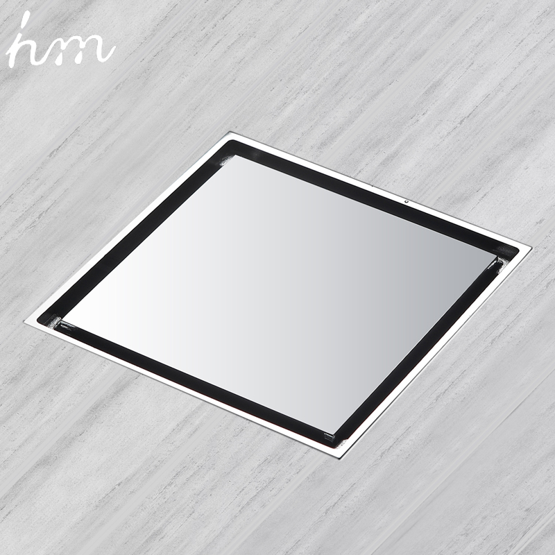 hm Floor Drain Brass Square Shower Drainer Grate Waste Tile Insert Square Floor Waste Grates Bathroom Drains Drain Strainers