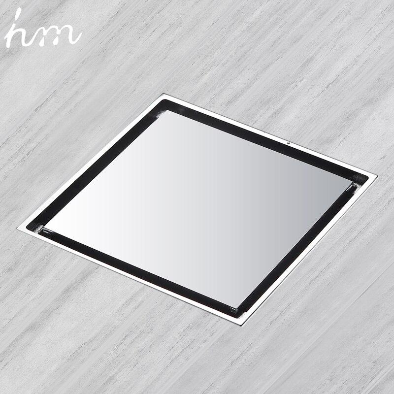 hm Floor Drain Brass Square Shower Drainer Grate Waste Tile Insert Square Floor Waste Grates Bathroom Drains Drain Strainers