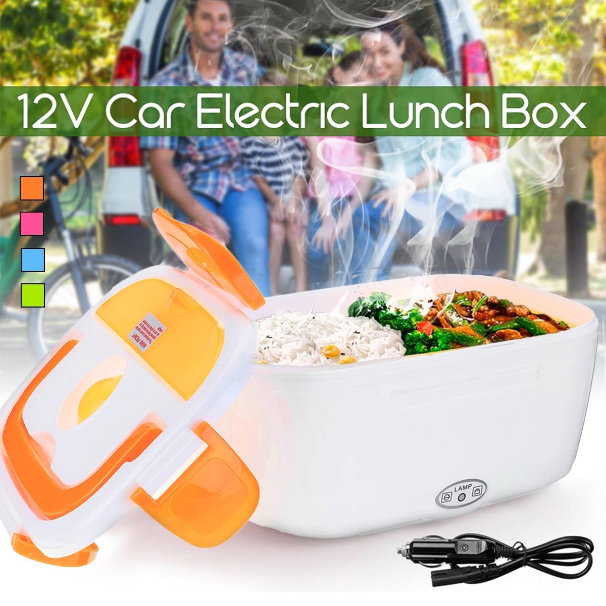 12 v 1.05L Portatile Auto Elettrica Riscaldata Scatola di Pranzo di Conservazione Degli Alimenti Bento Box Warmer Alimentare Contenitore per i Viaggi di Scuola Ufficio regalo a casa