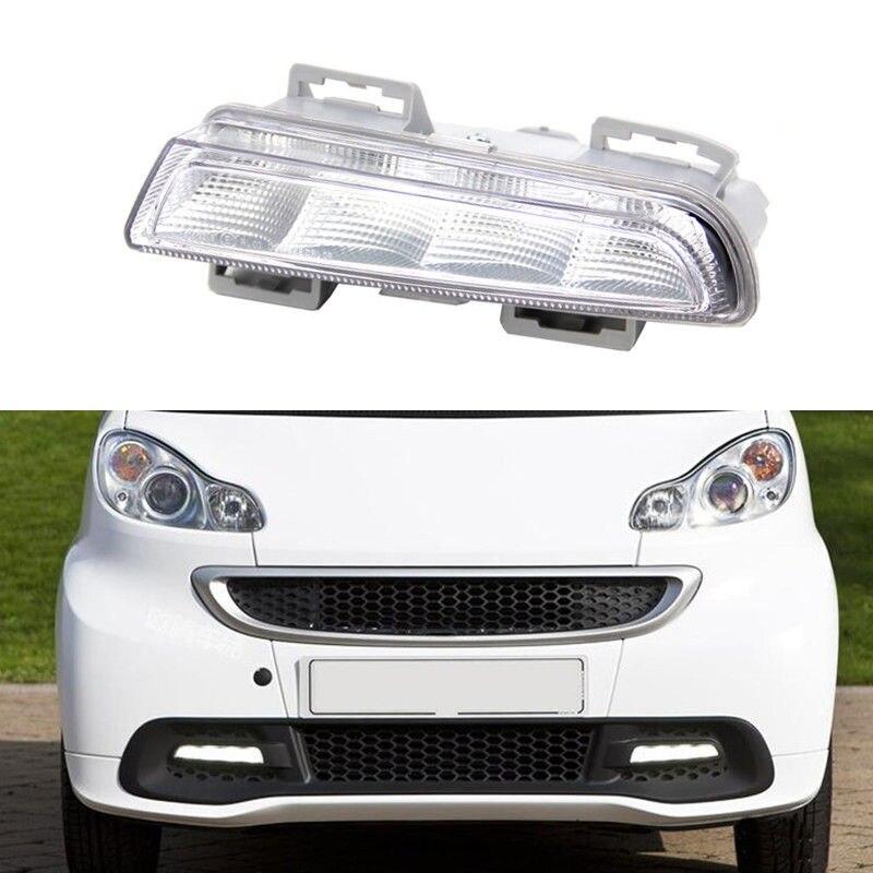 Пара автомобилей дневного Бег лампа белого DRL для Mercedes Benz Smart 2012 2013 2014 NewTest Стиль