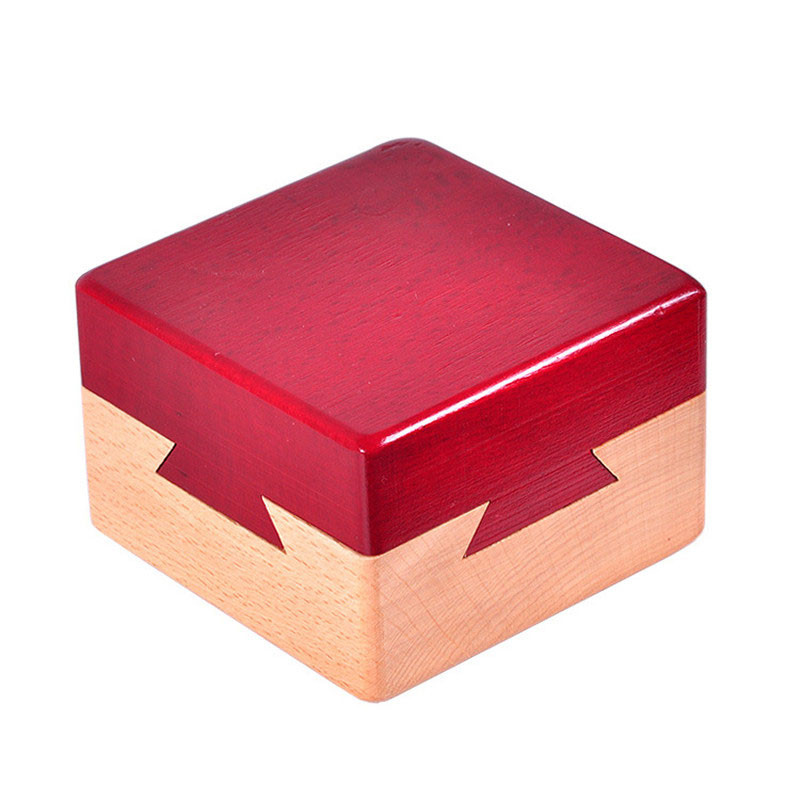 Puzzle Secret Box High quality Wooden Magic Box Puzzle game Luban lock IQ toys For Children Adult Educational Toys Teaser  Game