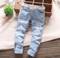 Baby Denim Pants New Girls jeans five-pointed star hole belt cowboy pants Wholesale