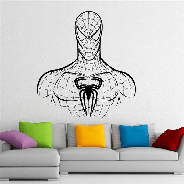 US $7.89 |Spiderman Wall Sticker Wall Vinyl Sticker Marvel Comics Superhero  Interior Home Art Wall Murals Bedroom Decor X166-in Wall Stickers from ...