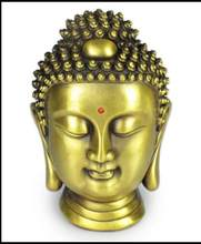 SCY 17 1102+++Copper Buddha Shakya Muni Buddha head ornaments decoration(China)