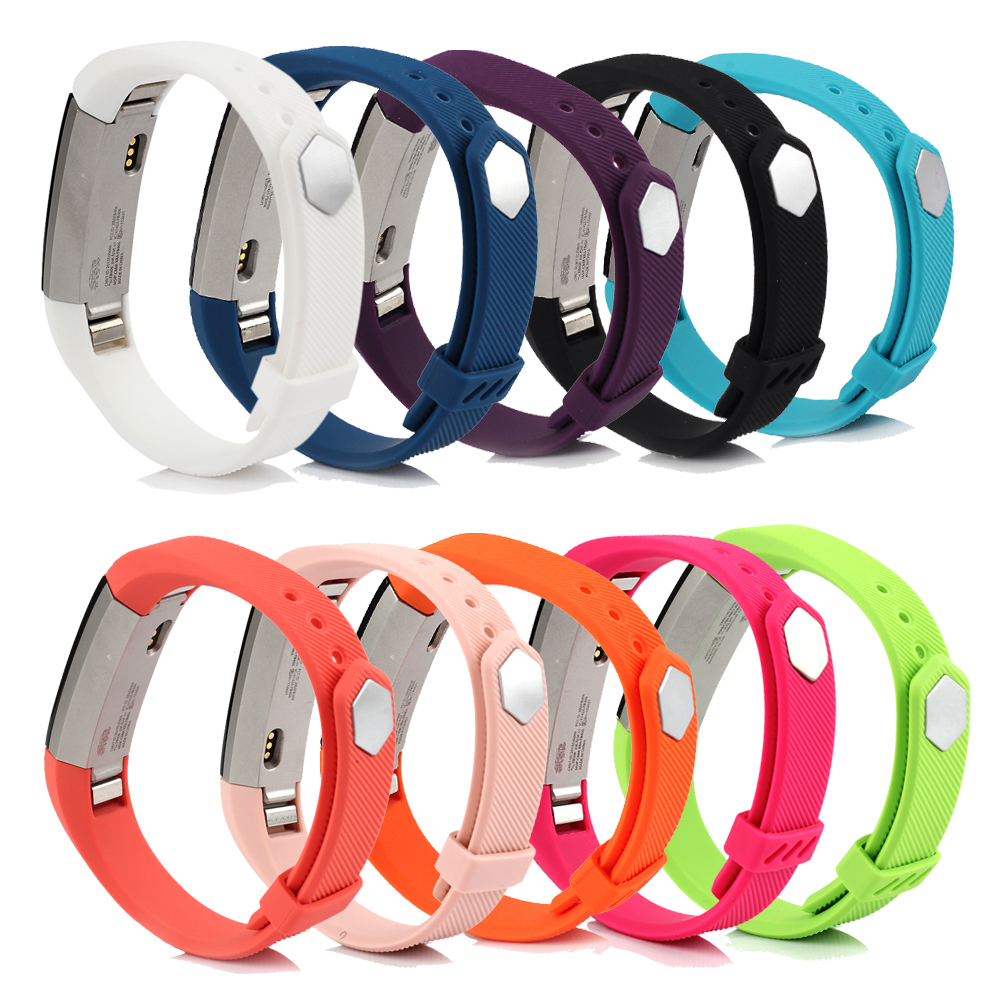 Adjustable Replacement Bands For Fitbit Ace/Alta/Alta HR, 15 Colors For Choice, With Metal Clasp And Ultrathin Anti-slip Ring