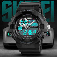 Luxury Sports Watch Men Digital Military Quartz Sport LED Waterproof Wrist Watches Men Dual Display Relogio Masculino