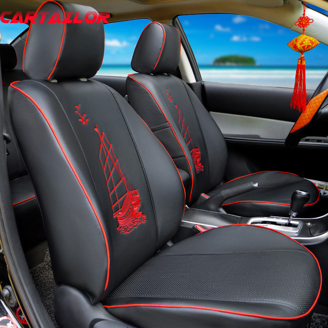 cartailor car seats for lexus ct200h seat cover accessories set black pu leather car seat covers. Black Bedroom Furniture Sets. Home Design Ideas