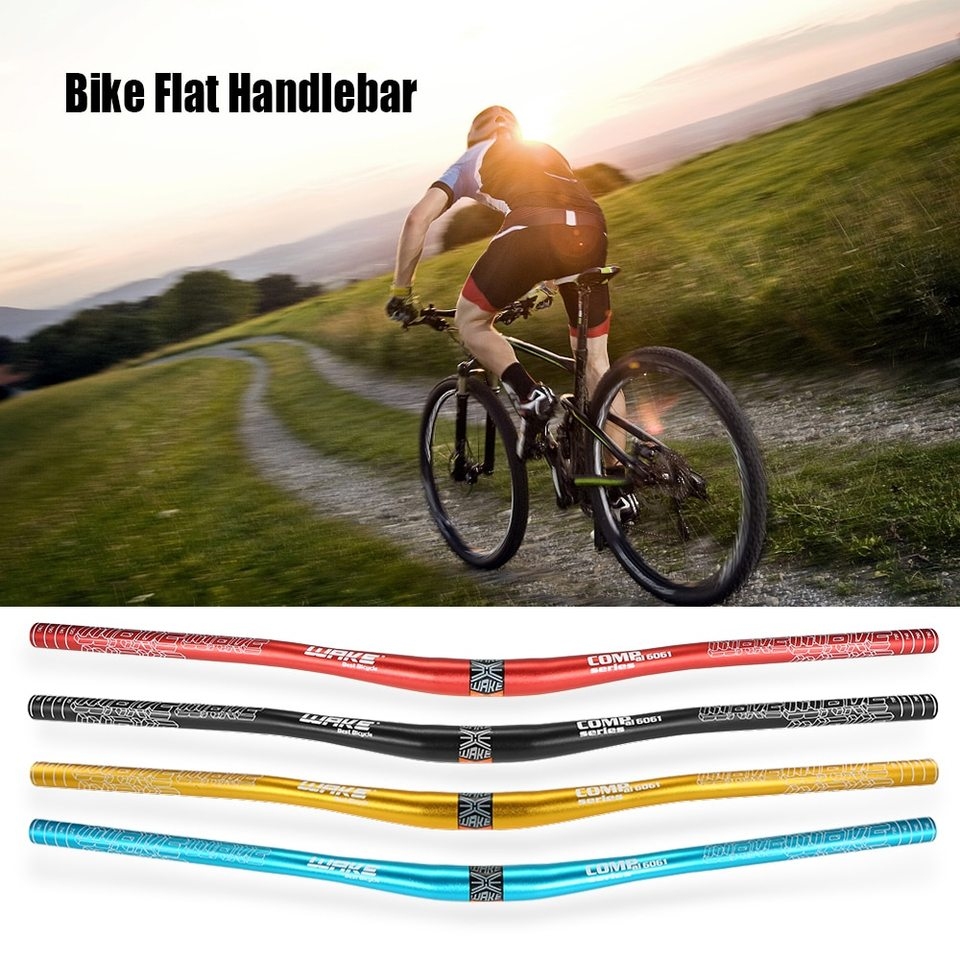 Red Aluminum Alloy MTB Handlebar Mountain Bike Bicycle Flat Bar 780MM Anodized