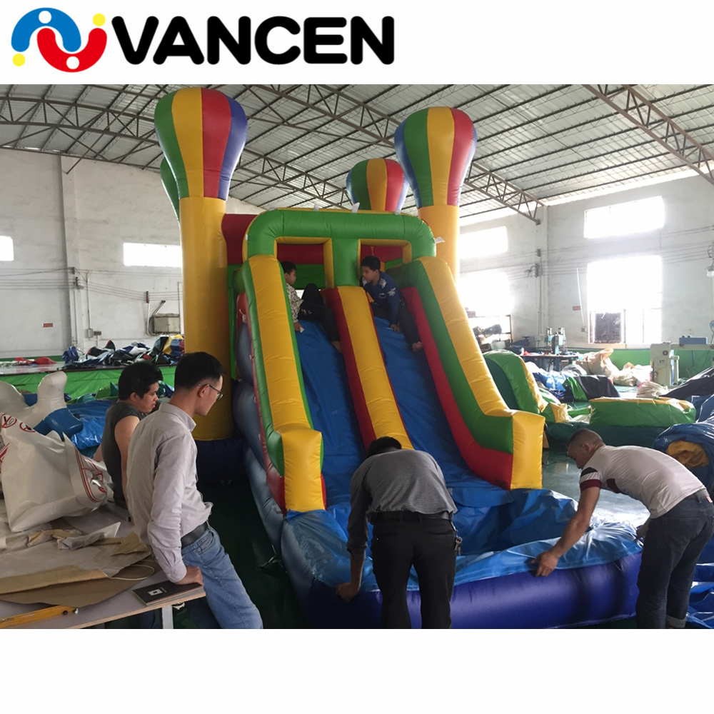 Hot jumping house for water park small inflatable combo inflatable toy trampoline cute inflatable bouncy castle with water slide купить недорого в Москве