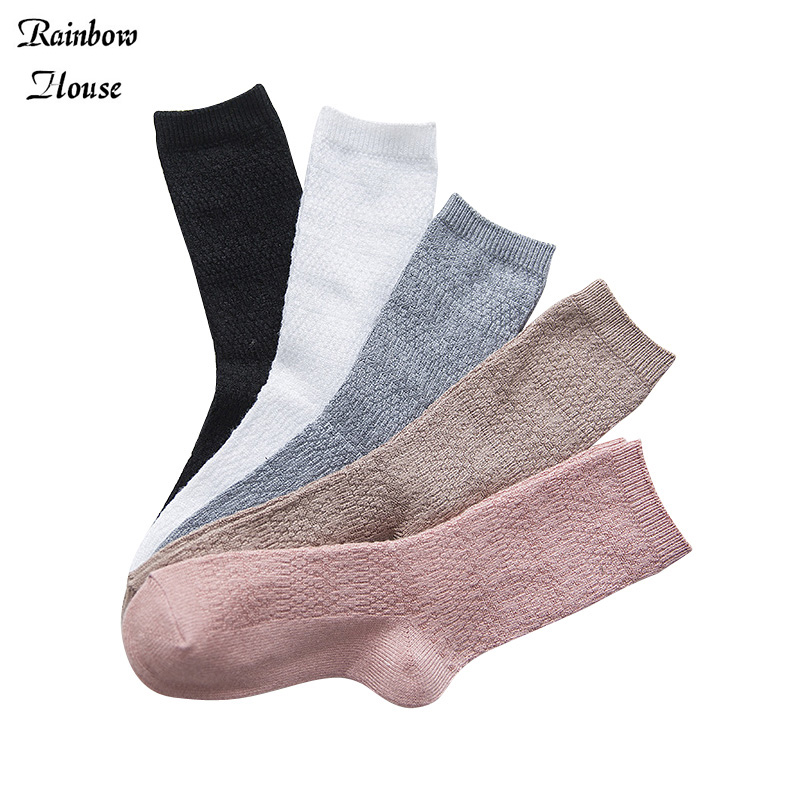 New 2017 Winter Woman Bamboo Socks Fashis