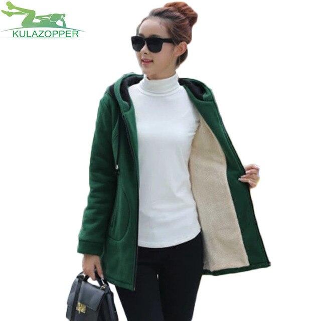 Осень 2017 г. и Новинка зимы женские толстые хлопчатобумажные бархатные пальто плюс Размеры длинная куртка с секциями Свободная куртка с капюшоном пальто xh48