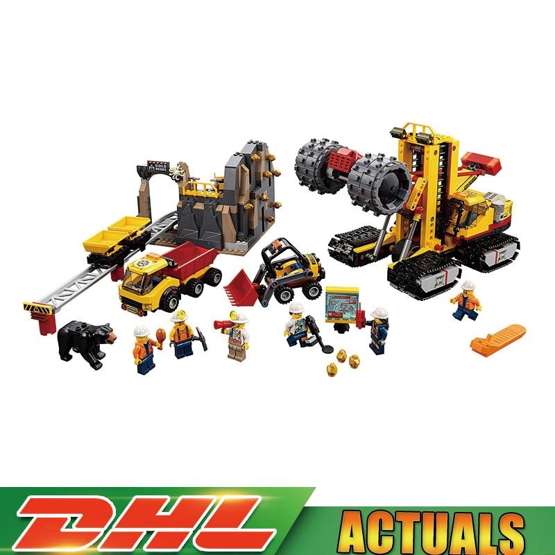цена на 2018 Lepin 02102 The Mining Experts Site Set Compatible 60188 City Bricks Building Blocks Kits Toys LegoINGlys for Children gift