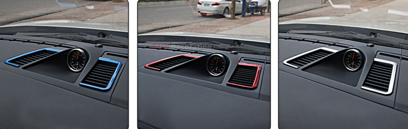 New! NEW!! For Porsche Panamera 970 2010 - 2015 Decorative Metal Inner Dashboard Air Vent Outlet Trims new