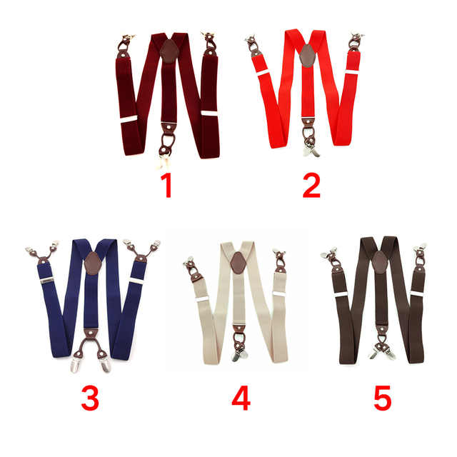6 Clips Casual Suspenders 4