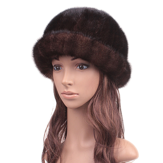 Winter Fur Hats Real Mink Fur New 2016 Fluffy Hat Girls Casual Sun Lovely Caps Women New Russian Hat  Beanies