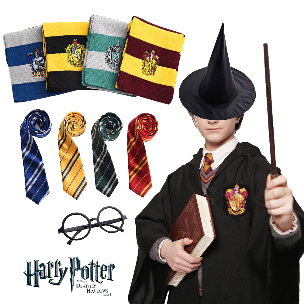 Family Matching Harri Potter Cosplay Costume Robe Cloak Ravenclaw Gryffindor Hufflepuff Slytherin for Adult Kids