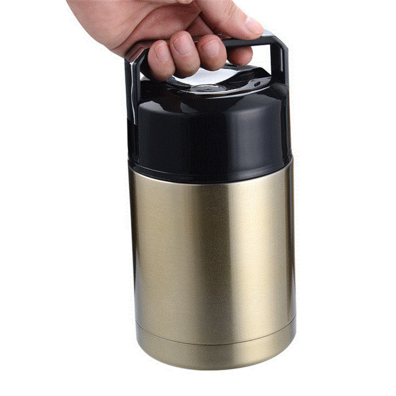 800ML Applied Insulated Food Jar Pot Stainless Steel Food Thermos Mug Portable Vacuum Thermos Lunch Food Soup Box WW-VC039