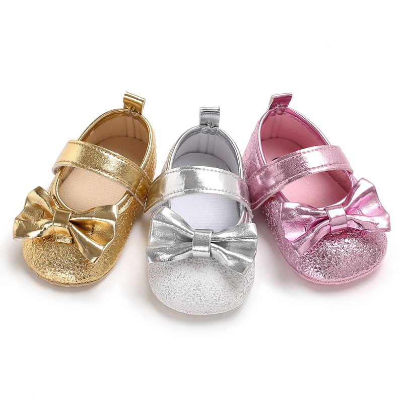 7848f22cf2eb Toddler Infant Baby Girls Fancy Princess Bow Sequnied Dress Shoes Kids Soft  Sole Crib Shoes Girl 0-18M