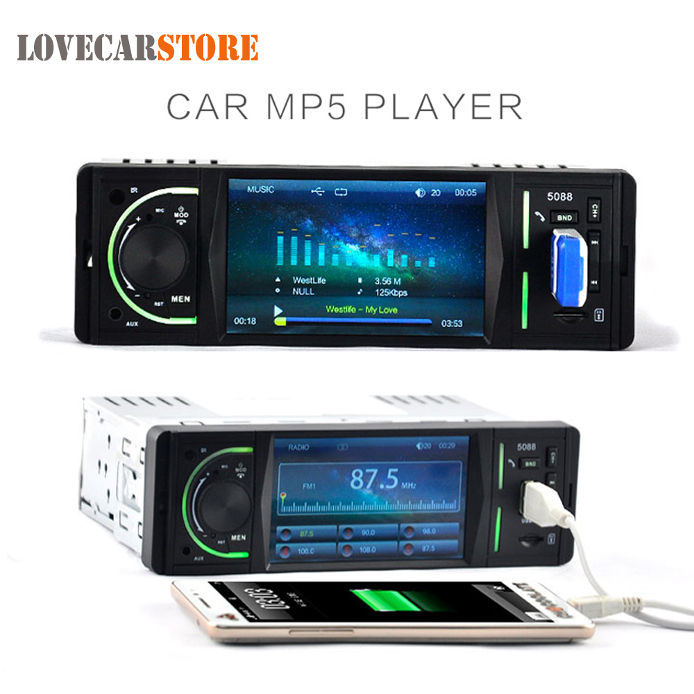 4.1 Inch 12V In-Dash HD Bluetooth Car Stereo Radio Auto MP3 MP5 Player Support USB FM SD AUX In + Remote Control 1563u 1 din 12v car radio audio stereo mp3 players cd player support usb sd mp3 player aux dvd vcd cd player with remote control