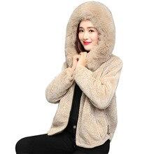 br winter women Faux fur jacket female short paragraph 2018 new faux one coat imitation woman