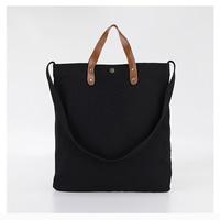 NAVO Canvas Tote Bags for Women Supermarket Eco Shopping Bag Casual Beach Handbag Black Brown Solid Canvas Bags 2019 bolsa lona