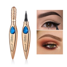 1PC Long Lasting Golden Tube Eye Liner Cool Black Quick Dry Waterproof Black Eyeliner Pencil Pen Cosmetics Eye Marker Eyeliner цена