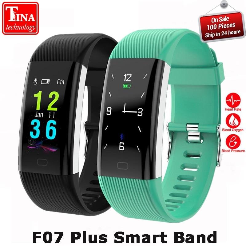 100% Original F07 Plus Smart Band Heart Rate Monitor Bracelet Blood Pressure Fitness Tracker Smartband Sport Watch Wristband